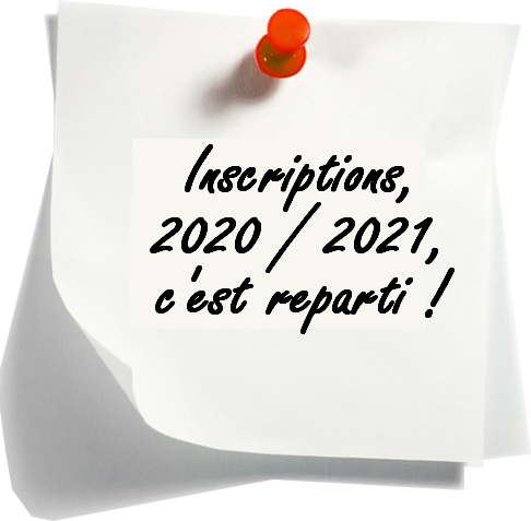 Inscriptions 2020 2021