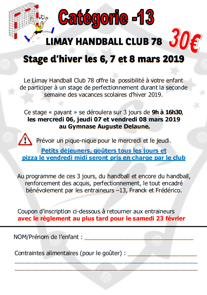 Stage Hiver 13 LHC78